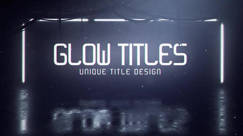 Glow Title Motion Graphics Template