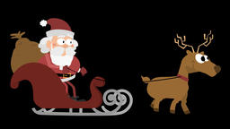 Santa Claus Animation 33 - with a reindeer Animation