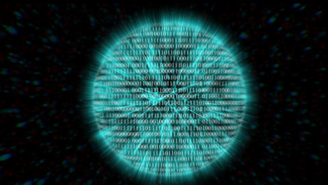 Binary code with digits moving,concept of digital age Footage