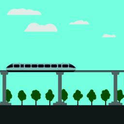 Maglev rail train vector illustration Vector