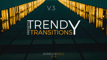 Trendy Transitions Presets V 3 Premiere Proテンプレート