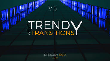 Trendy Transitions Presets V 5 Premiere Pro Template