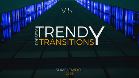 Trendy Transitions Presets V 5 Premiere Pro Template
