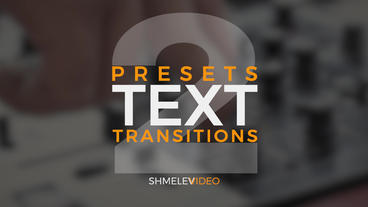 Text Transitions Presets V 2 Premiere Proテンプレート