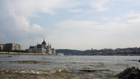 Danube river view Footage
