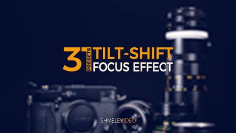 Tilt-Shift Presets Premiere Proテンプレート