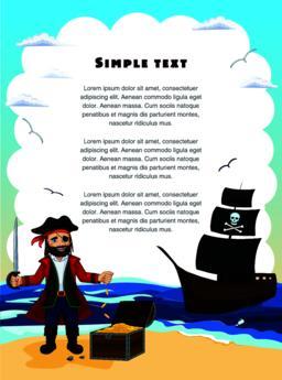 Pirate. Children vector illustration ベクター