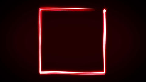Abstract Light Stroke Square Animation Animation