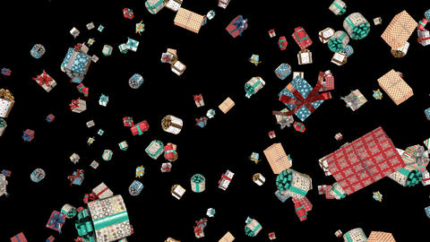 Christmas Presents falling Loop Animation