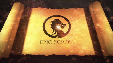 Legendary Epic Scroll Logo Reveal Premiere Pro Template
