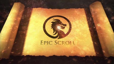 Legendary Epic Scroll Logo Reveal Premiere Proテンプレート