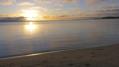 Sunrise over a big beautiful lake. A beautiful start to a new day GIF