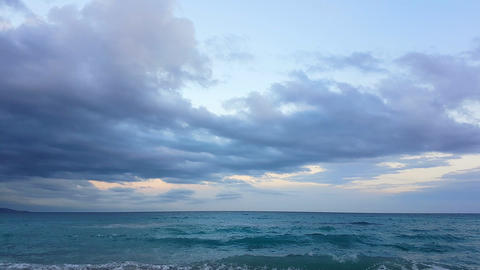 Time Lapse Of A Cloudy Sky Over The Mediterranean Sea GIF