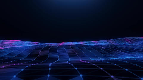 Abstract blue-pink plexus field Animation