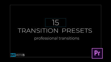 Transition Presets V.2 Premiere Proテンプレート
