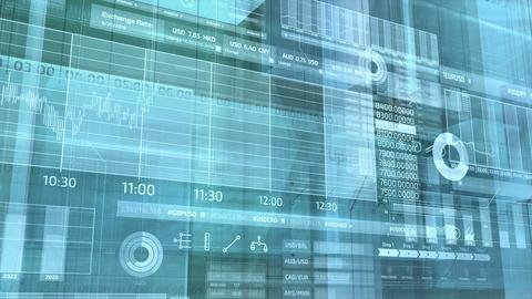 Abstract stock exchange infographics Animation