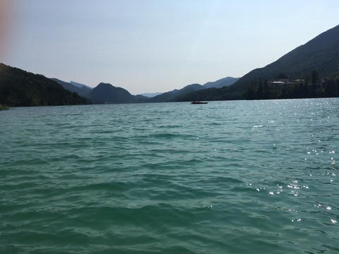 Lake Fuschlsee in Salzburg Live Action