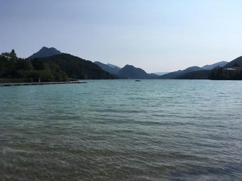 Lake Fuschlsee in Salzburg Footage
