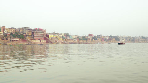 India Ganges River 005 영상물