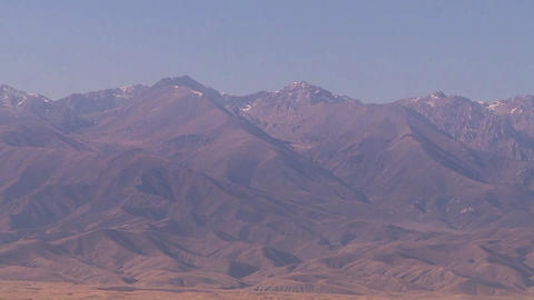 Mountain peaks of the Republic of Kazakhstan, snow on the mountain Live Action