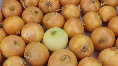Close-up. The rotation of the background made from onions Footage