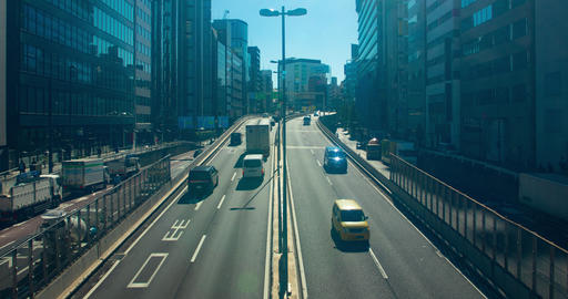 Rush street on the highway at Shibuya time lapse Stock Video Footage