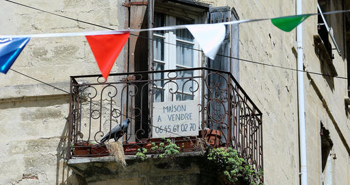 Old House With Sale Sign In France 영상물