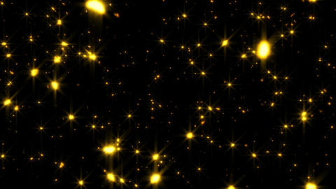 Glittering Gold Snow Towards Cam Loopable Overlay Element Animation