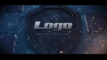 Logo on the road Plantilla de After Effects