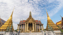 Bangkok Thailand 4K time lapse, city skyline timelapse at Wat Phra Kaew temple Footage