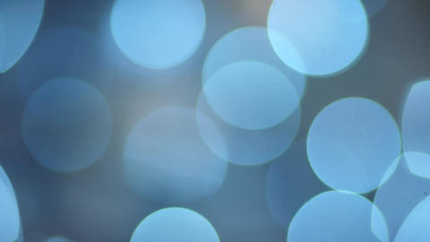 Abstract blurred blue bokeh background of garland Footage
