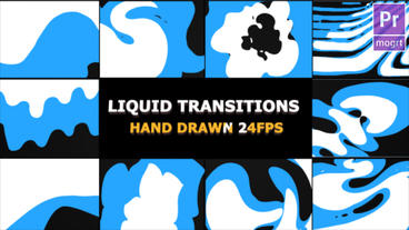 Funny Liquid Transitions Motion Graphics Template