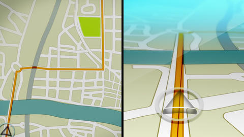 GPS Demo Animation Stock Video Footage