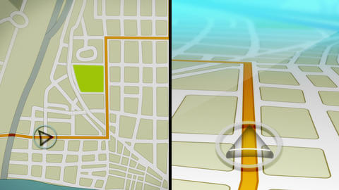 GPS Demo Animation Stock Video Footage