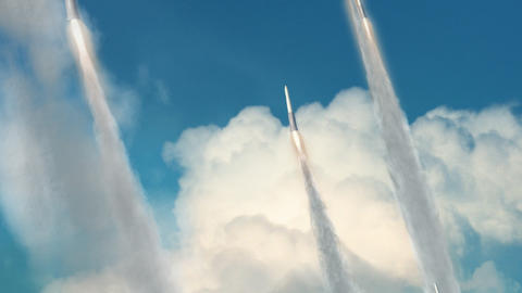 Missiles Being Launched stock footage