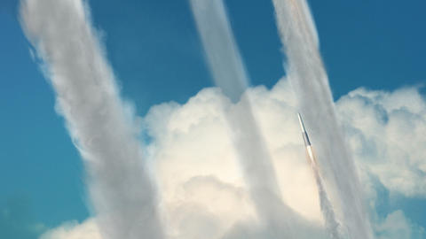 Missiles Being Launched Stock Video Footage