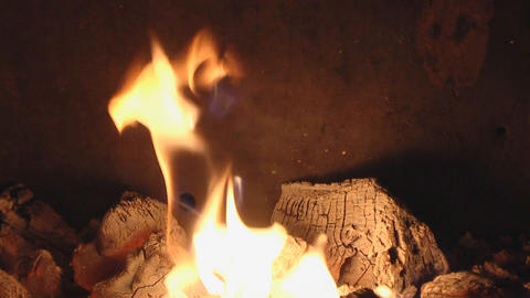 fireplace loop Stock Video Footage