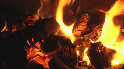 live coals loop Stock Video Footage