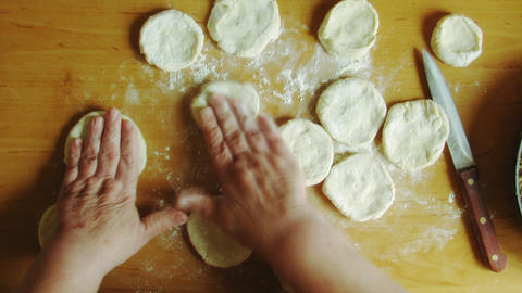 cooking pies time lapse Stock Video Footage