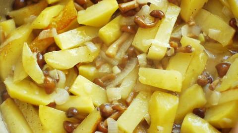 Fry a potato Footage