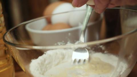Pancake mix Stock Video Footage
