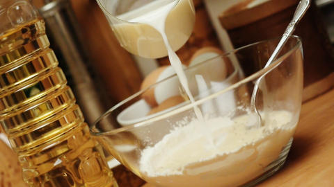 Pancake Mix stock footage