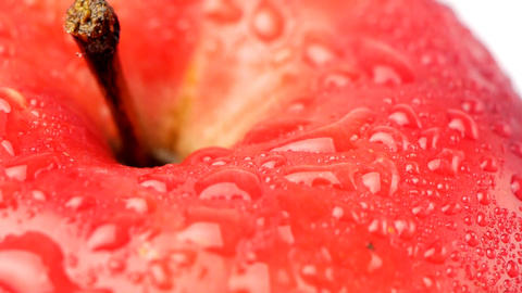 Red apple with dew Footage
