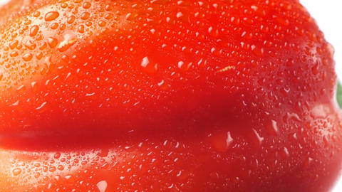 Red pepper with dew Stock Video Footage