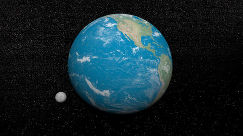 Earth and moon - 3D render Stock Video Footage
