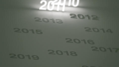 Glowing Numbers Timeline: 2000s and 2010s Stock Video Footage