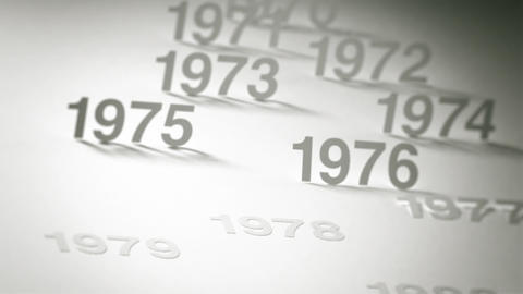 Simple Timeline Concept Animation: 1970s, 1980s and 1990s Stock Video Footage