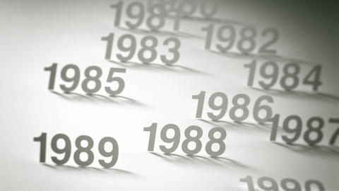 Simple Timeline Concept Animation: 1970s, 1980s and 1990s Animation