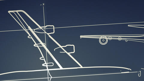Aircraft Blueprint Smooth Camera Pan and Zoom Animation