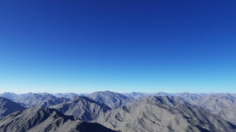 flying over the mountains Stock Video Footage